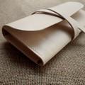Leather Wrap Clutch Purse