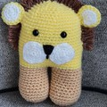 "Crochet Lion "" The King"" Animal Soft Toy, Lion Amigurumi"