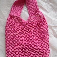 Market bag with round bottom