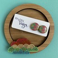 Rainbow Trinket Dish and Earrings Gift Set