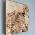 Resin coated artwork/trivet on Tasmanian Oak timber.