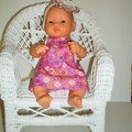 Miniland and Mini Baby Born Dolls clothes a cute dolls dress and headband