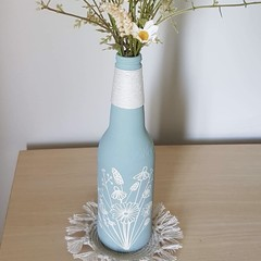 Upcycled vase - small - blue wildflower