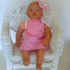 Mini Baby Born and Miniland 32cm dolls clothes a cute dolls dress and headband