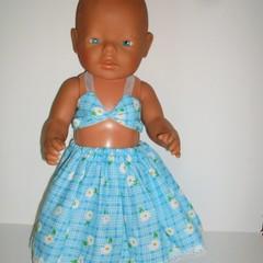 Bikini Top and Skirt set for Baby Born dolls