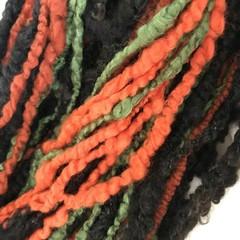 Chunky handspun merino and mixed wool 100 grams 54 metres