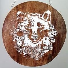 Wooden wall art - Wolf
