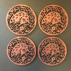 Jarrah Bandicoot coasters (set of 4)