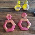 Red and Gold Hexagon