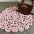 Crochet Floor Rug, Handmade Mat, Baby Nursery, Little Girls Bedroom, preorder