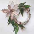 Pink Native Flower Christmas Wreath  - Aussie Christmas Decor - Christmas Gift