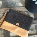 Flat Clutch - Brown Weave