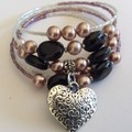 memory wire bracelet mixed love beads assorted colours mixed randomly bracelets