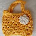 Child's crocheted shopping bag.