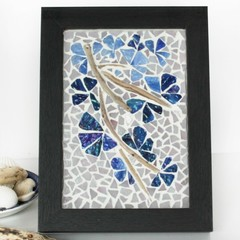 Mosaic and Driftwood Frame