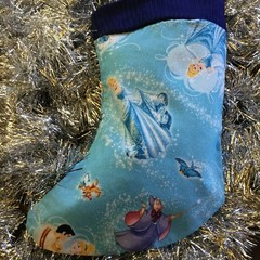 Handmade Christmas stocking Xmas Cinderella Prince Charming