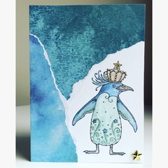 Penguin king card