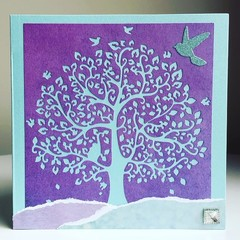 Teal tree card