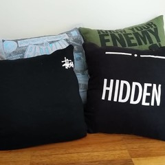 Upcycled cushions complete with insert
