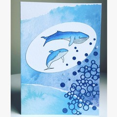 Whale friends card