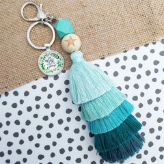 The best is yet to come -  Tassel keyring/bag tag