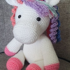 """Daphne"" Crochet Unicorn Soft Toy, Unicorn Amigurumi"