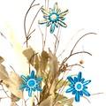 Christmas Tree Snowflake Ornament Tag Hanging Decoration Blue Natural Set of 3-6