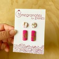 Mini & Long Stud Combo Pack in Pink and Gold Glitter Sorbet
