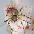 Beaded Sparkly Lucky Christmas Spider