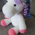 """Daphne"" Crochet Unicorn Soft Toy, Unicorn Amigurumi"