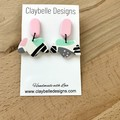 Pastel Pink & Mint Crown Dangle