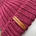 Mens or ladies pink  merino knitted beanie