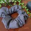 Grey Cotton Scrunchies