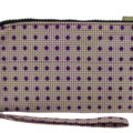 Pretty Fabric Women's Zipper Wallet Clutch Wristlet Phone Purse Cotton Fabric