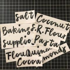 Large pantry labels/organisation/kitchen