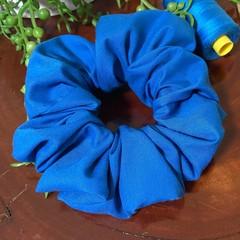 Bright Blue Scrunchies