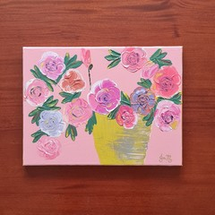PAINTING - 'Pastel Roses'