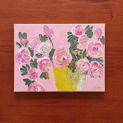 PAINTING - 'Pink Roses'