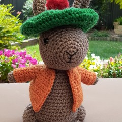 Benjamin Bunny crocheted toy