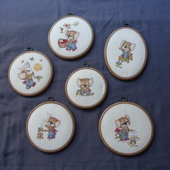 cross stitch koalas room decoration