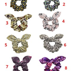 Fabulous Pretty Colorful Scrunchies  Made Of Cotton Fabric With Ribbon Tie