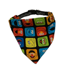 Super Cute Fabric Sesame Street Pet Dog Cat Bandana Scarves Collar Add On