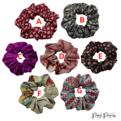 Fabulous Pretty Colorful Large Classic Scrunchies  Made Of Cotton Fabric