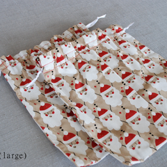 Christmas-themed Drawstring Gift Bag