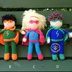 Crocheted superhero doll