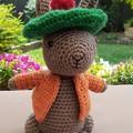Benjamin Bunny crocheted toy