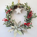 Green Christmas Wreath - Traditional Christmas Decor - Family Christmas Gift