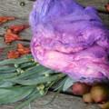 ~*~* Hand Dyed Silk Mawata~ Mulberry Silk Hankies 31g  Fairie Magick~*~