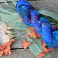 Silk Sari Ribbon ~ * Recycled Silk from India *~ 100gram Skein Blues Purple