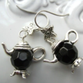 TEAPOT EARRINGS  black colour or any colour you like earring